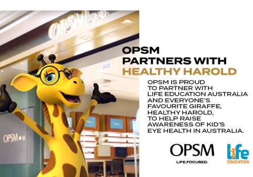 Healthy Harold and OPSM partner to educate Aussie kids about Eye Health